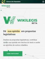 Câmara dos Deputados lança nova versão do Wikilegis